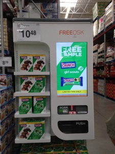 Girl Scout Cookie machine at Costco