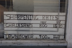 Sharpening Rates sign