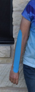 Kinesio tape aka fancy blue duct tape for people
