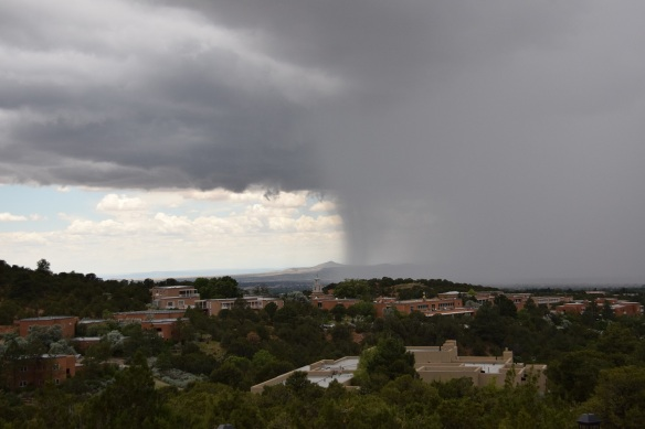 Storm over Santa Fe, New Mexico