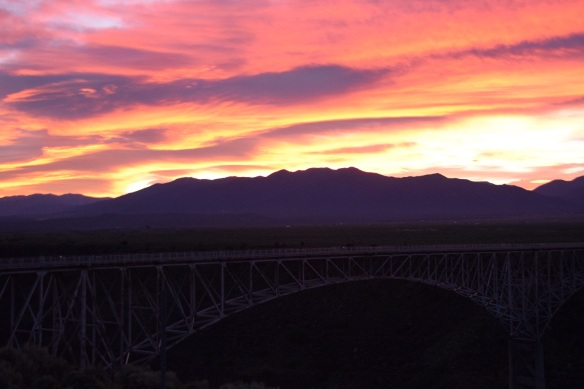 Dawn at the Rio Grande Gorge Bridge