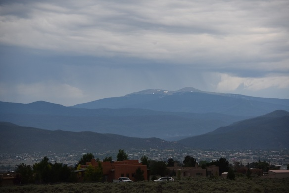 Afternoon rain on the mountains new Taos, New Mexico