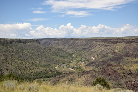 Looking down at the Rio Grande
