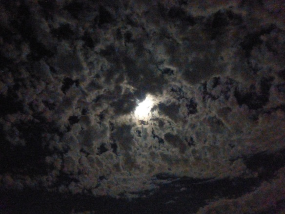 Night clouds, backlit by the moon
