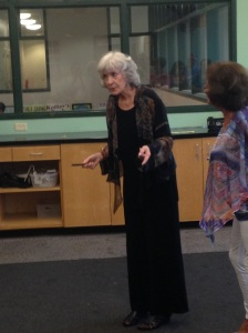 Sue Grafton explaining the title to her latest book