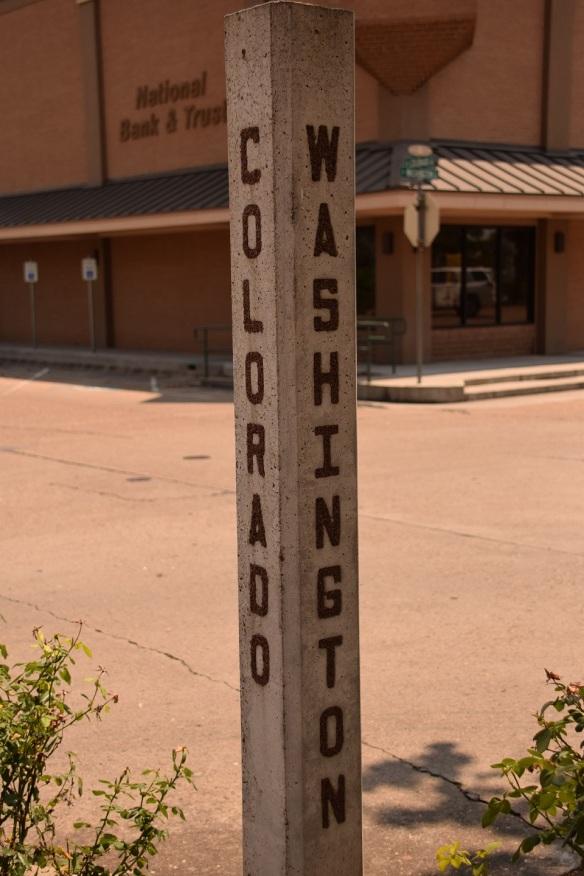 An old-fashioned street marker in La Grange, Texas