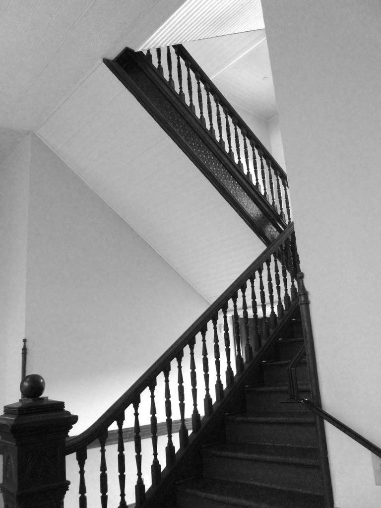 Stairway at the historic courthouse in La Grange, Texas