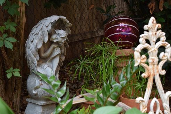 Angel in Ticka's garden