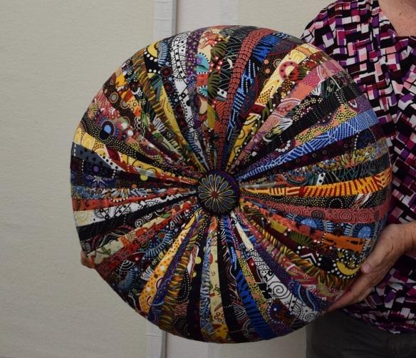 Tresha's tuffet made with Australian fabrics