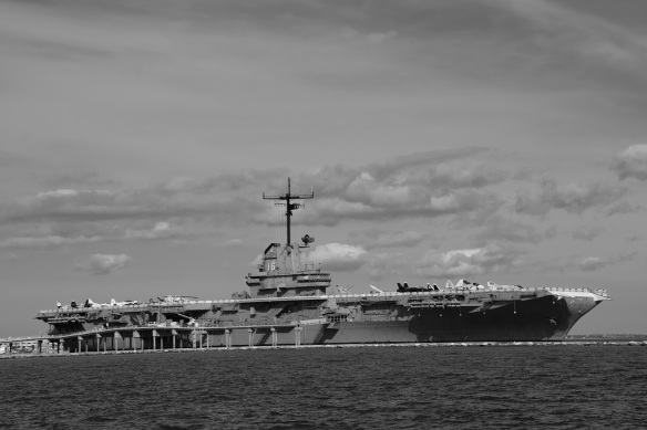The USS Lexington in Corpus Christi, Texas