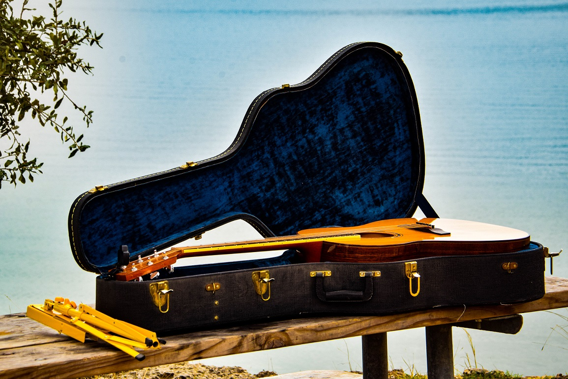 Bill's guitar at Pace Bend Park on Lake Travis