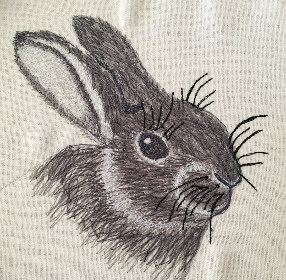 My thread painted rabbit