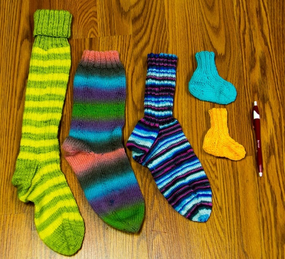 Socks from knitters at Ply! Yarn Shop in Wimberley, Texas