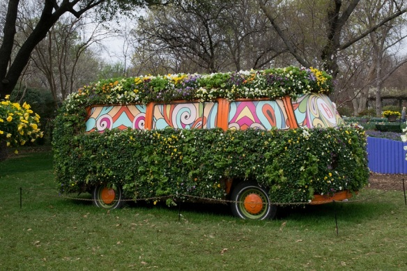 VW Bus and flowers