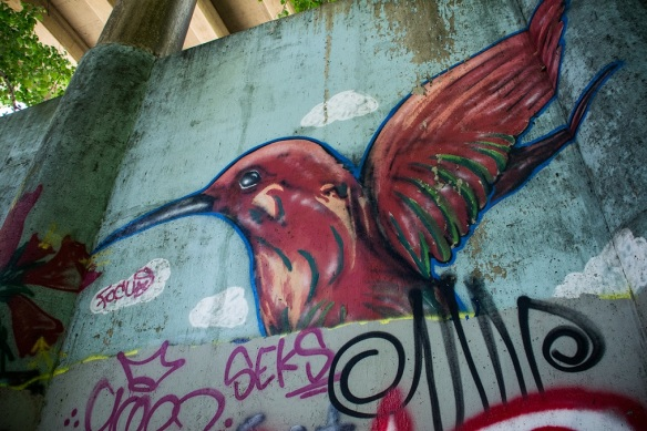Hummingbird Mural (a)