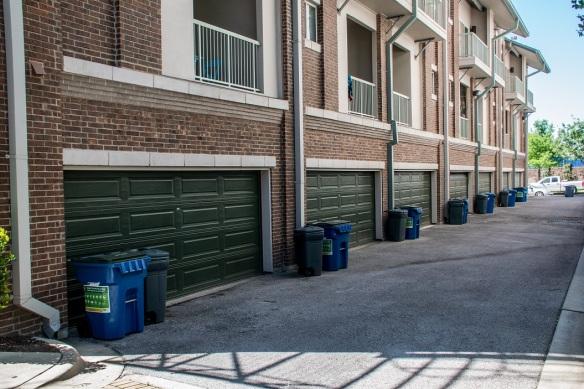 Garage Doors all in a row