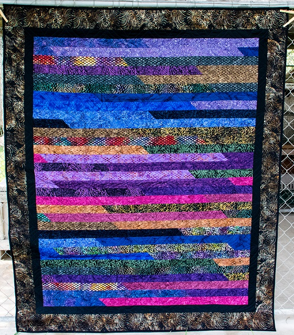 00s Jelly roll quilt