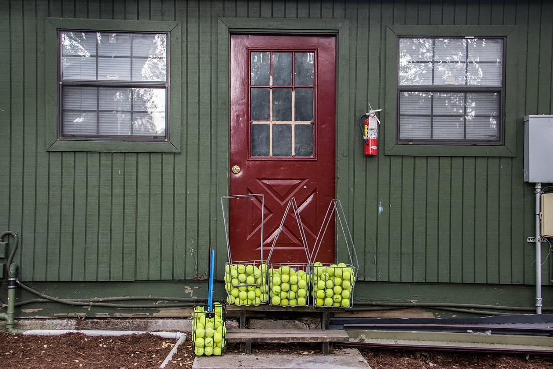 Door and Tennis Balls at Newks