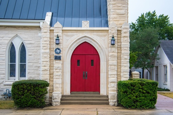 Door red arched