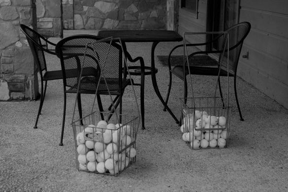Tennis balls, ready to go