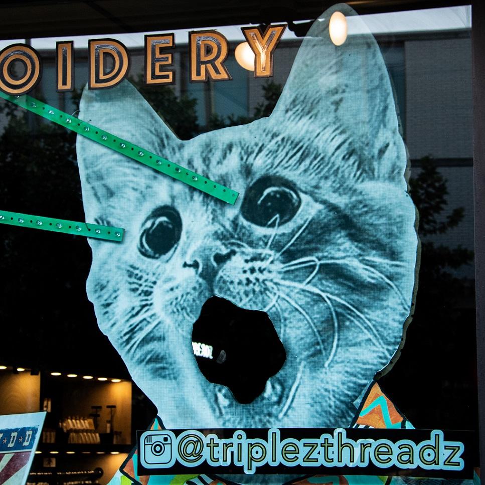 Triple Z Threads window on South Congress, Austin, Texas